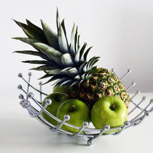 Elegancki kosz na owoce wykonany ze stali chromowanej. Cena: 29,90 zł. Produkt dostępny w Emako.pl