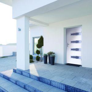 Drzwi zewnętrzne metalowe Leta (biały) marki Sentis. Fot. RuckZuck