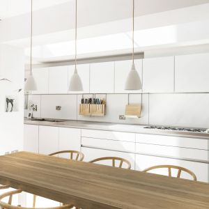 Biała kuchnia: propozycje nowoczesnych mebli. Fot. Pfleiderer