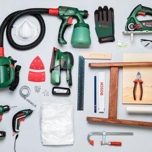 Narzędzia potrzebne do wykonania garderoby. Fot. Bosch