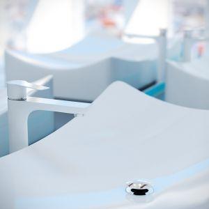 Raila seria baterii łazienkowych/Laveo. Produkt zgłoszony do konkursu Dobry Design 2018.