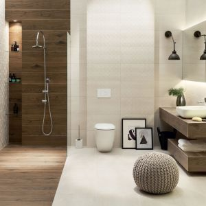 Aranżacja łazienki z nową kolekcją Tortora. Fot. Tubądzin