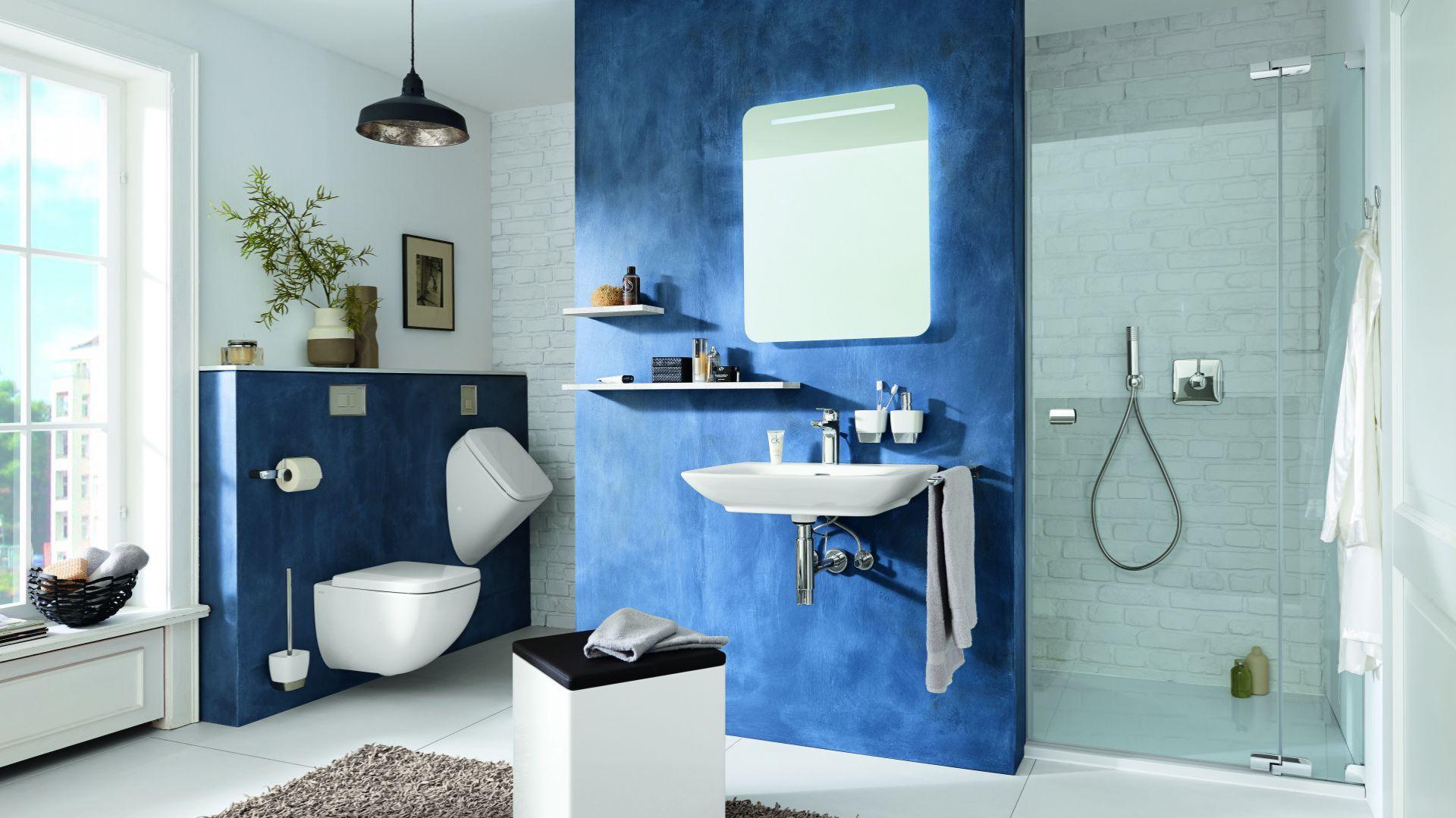 Lustro w łazience. Na zdjęciu: produkty z serii Vigour white