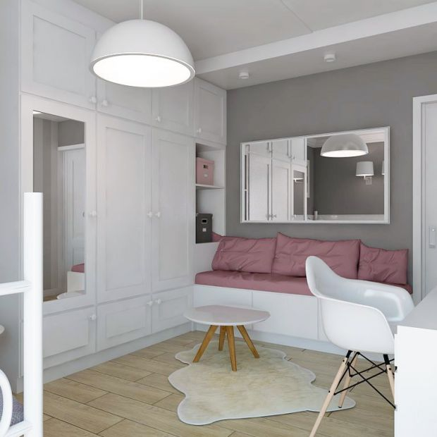 Sypialnia nastolatki. Delikatne, pastelowe wnętrze