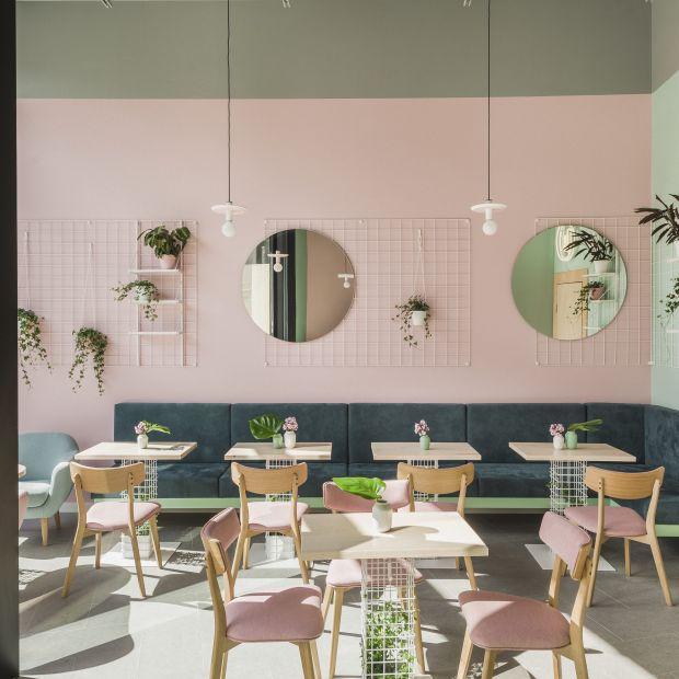 Wypiekarnia - kawiarnia cała w pastelach
