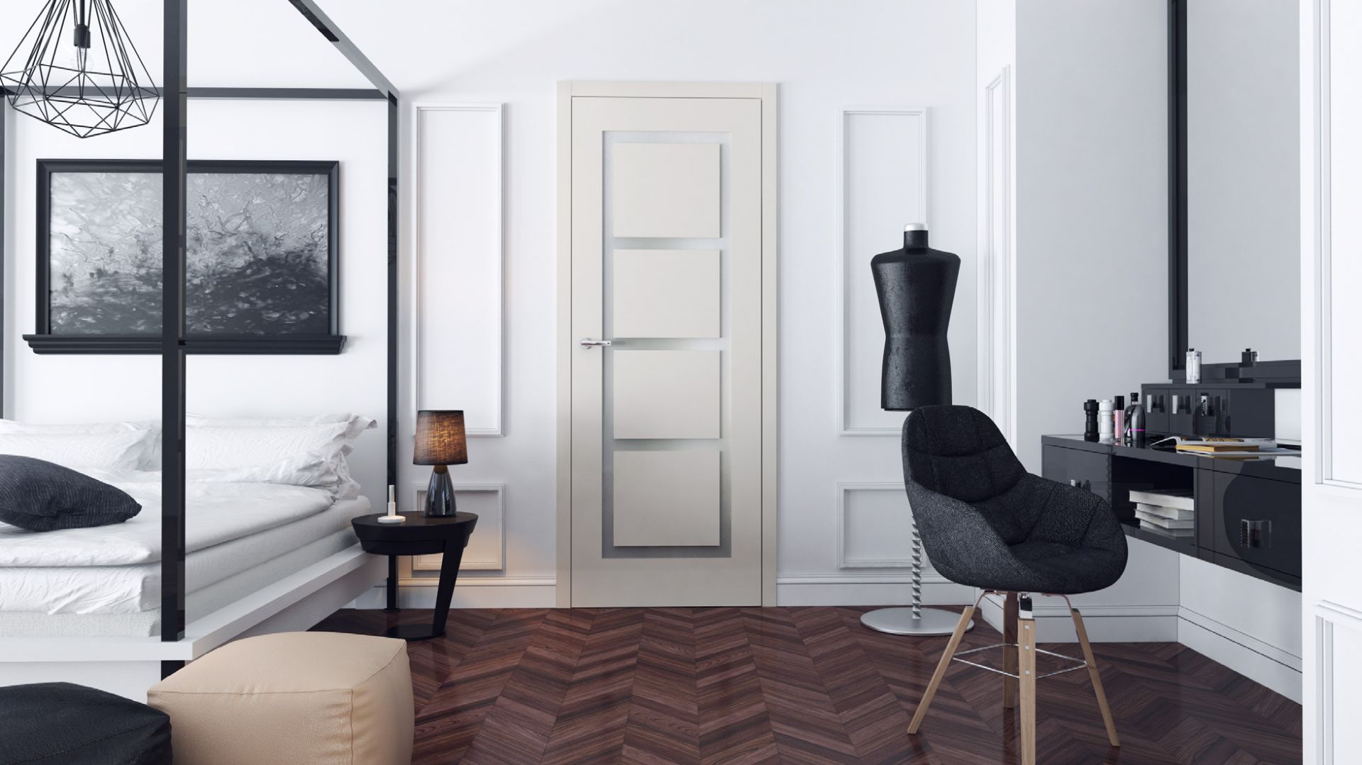 Drzwi Desigio Zanzara/RuckZuck. Produkt zgłoszony do konkursu Dobry Design 2018.