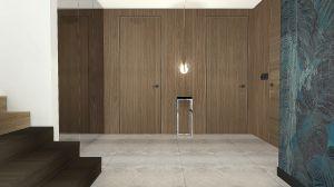projekt holu z drewnem