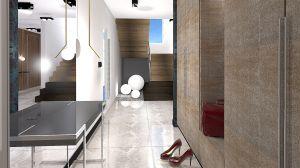 projekt korytarz oraz szafy