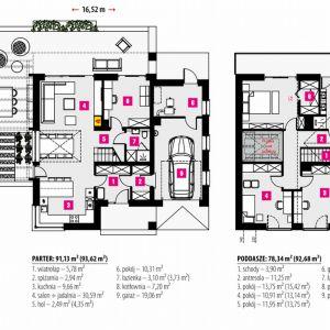 Rzut domu. Projekt: Dom w amorfach. Fot. Archon +