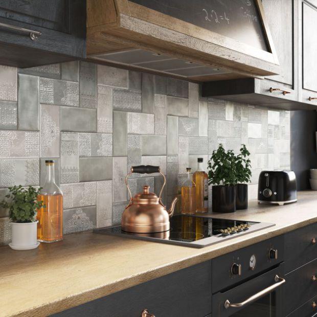 20 pomysłów na szare płytki do kuchni
