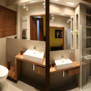 Łazienka z prysznicem. Projekt: Luiza Jodłowska. Fot. Bartosz Jarosz