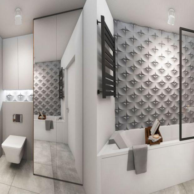 Nowoczesna łazienka wykończona betonem