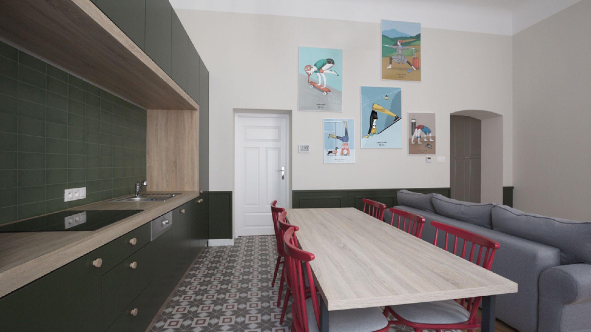 80-metrowy apartament jest usytuowany w zabytkowej kamienicy w samym sercu krakowskiego Starego Miasta - w pobliżu słynnego Zamku Królewskiego na Wawelu i malowniczego rynku. Fot. GRID/Dekorian