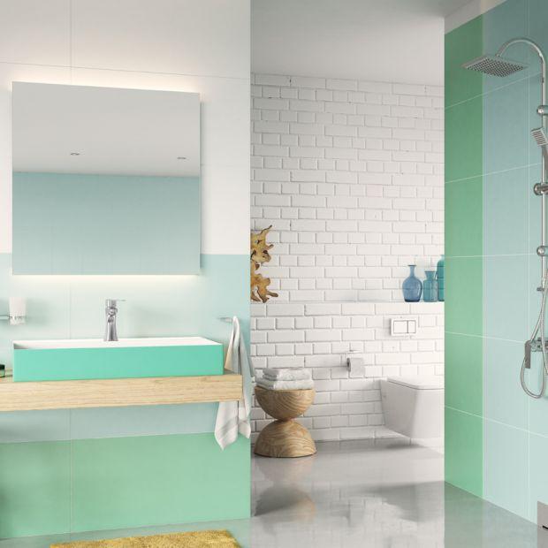 Łazienka w modnych kolorach - pomysły na każdą porę roku