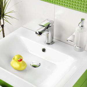 Bateria umywalkowa Kvadro z korkiem click-clack. Fot. Ferro