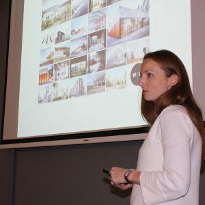 Arch. Marta Sękulska-Wrońska prezentowała największe osiągnięcia pracowni WXCA