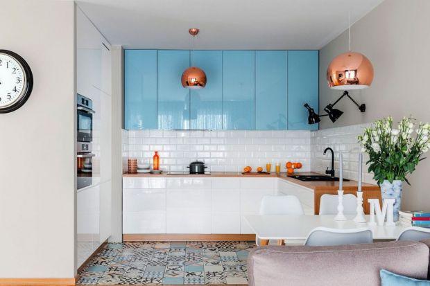 Kuchnia otwarta na salon - gotowy projekt wnętrza