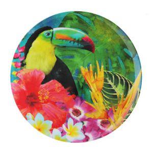 Paterę z kolekcji Tropikana zdobi barwny motyw tropikalnego lasu. Fot. Home&You