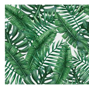 Fototapety z akwarelowym rysunkiem Liści Palmowych wprowadzą egzotyczny klimat. Fot. Pixers