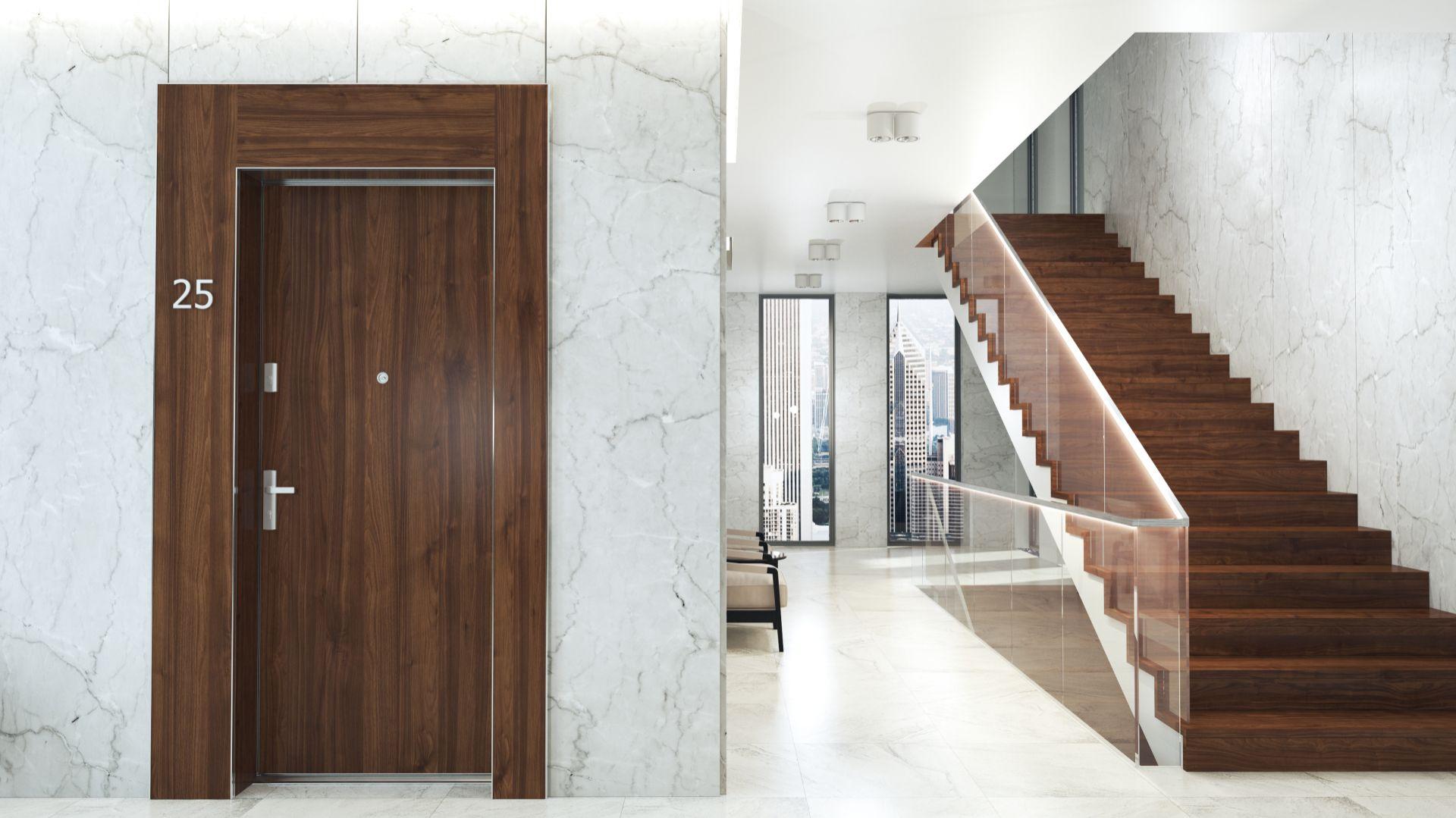 Drzwi wejściowe Gradara, kolekcja ELEGANCE/Entra. Produkt zgłoszony do konkursu Dobry Design 2018.