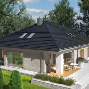 Dom z tarasem. Projekt Marcel IV G2. Fot. Pracownia Projektowej Archipelag