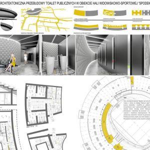 Plansza 1 - Nagroda II: Ostrowscy Architekci Biuro Projektowe Sp. z o.o. (J. Ostrowski, D. Ostrowska, A. Helicka, A. Mróz, M. Kwiczała)