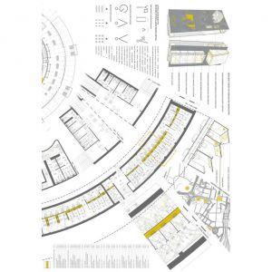 Plansza 2 - Nagroda II: Ostrowscy Architekci Biuro Projektowe Sp. z o.o. (J. Ostrowski, D. Ostrowska, A. Helicka, A. Mróz, M. Kwiczała)