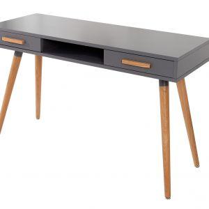 Szare biurko Scandic pasuje do gabinetu, ale może także służyć jako stół. Fot. Invicta Interior/LePukka Concept Store