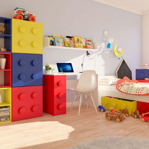 Pokój dziecka. Niezwykłe meble przypominające klocki