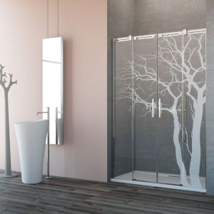Drzwi wnękowe Espera DWD z grawerem (wzór 05 Tree). Fot. Radaway