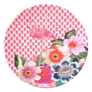 Bogato zdobione talerze Flamingo będą wyjątkową dekoracją stołu. Fot. Westwing