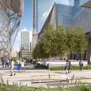 Hudson Yards to mające powstać w Nowy Jorku, na Manhattanie smartosiedle, w którym dzięki inteligentnym technologiom będzie można zarządzać... nawet ruchem pieszych. Fot. materiały prasowe dewelopera