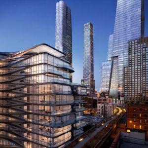 Wieżowce w nowojorskiej inwestycji Hudson Yards zostaną zbudowane z poszanowaniem zasad zrównoważonego budownictwa. Fot. materiały prasowe dewelopera