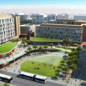 Architektura Masdar City - miasta na pustyni - zapewnia przyjemy cień, naturalną wentylację i tereny zielone. Fot. materiały prasowe dewelopera