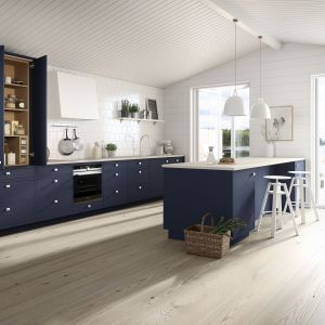 Kuchnia Line Inframe to prostota skandynawskiego stylu ujęta w geometryczne formy. Fot. Sigdal