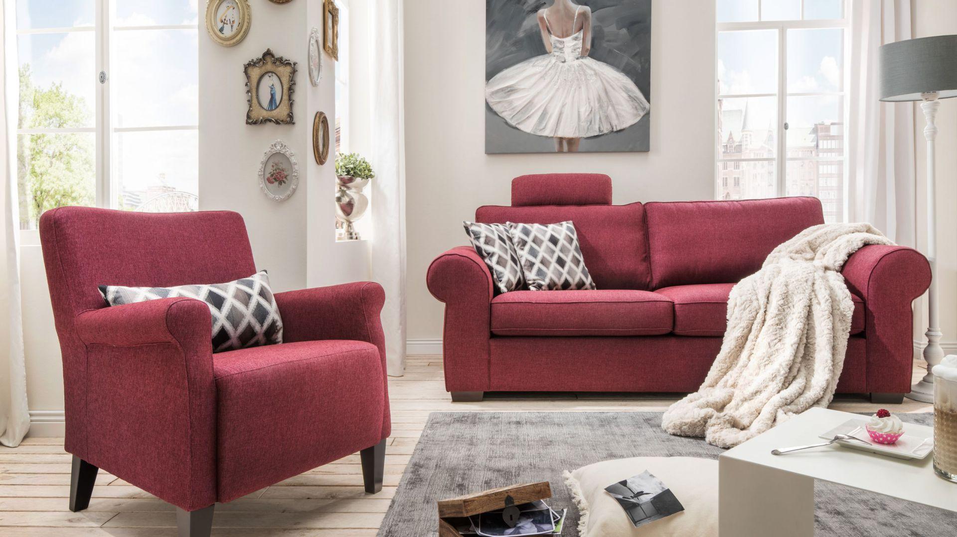Zestaw mebli wypoczynkowych Amarone tapicerowany tkaniną. Fot. Livingroom