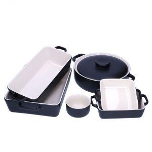 Naczynia z kolekcji Mans wykonane są z kamionki odpornej na działanie wysokich temperatur, dlatego mogą być używane w piekarniku, natomiast dzięki nowoczesnej formie świetnie sprawdzą się również jako naczynia do serwowania. Fot. Duka