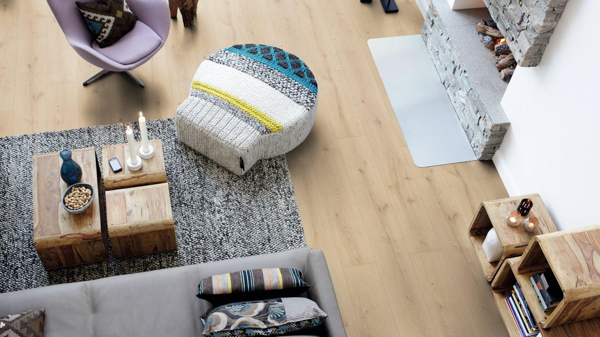 Podłogi laminowane Sensation Wide Long Plank. Fot. Pergo