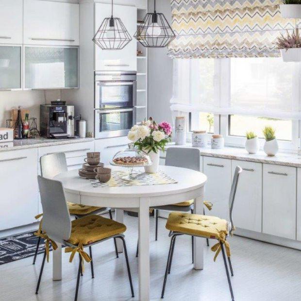 Rolety okienne w kuchni i jadalni. Modne wzory
