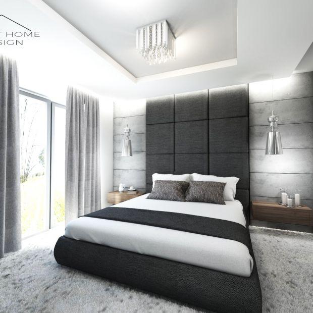 Piękne wnętrze nowoczesnej sypialni