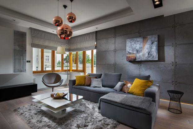 Małe mieszkanie  w szarościach - zobacz piękny apartament w Gdyni