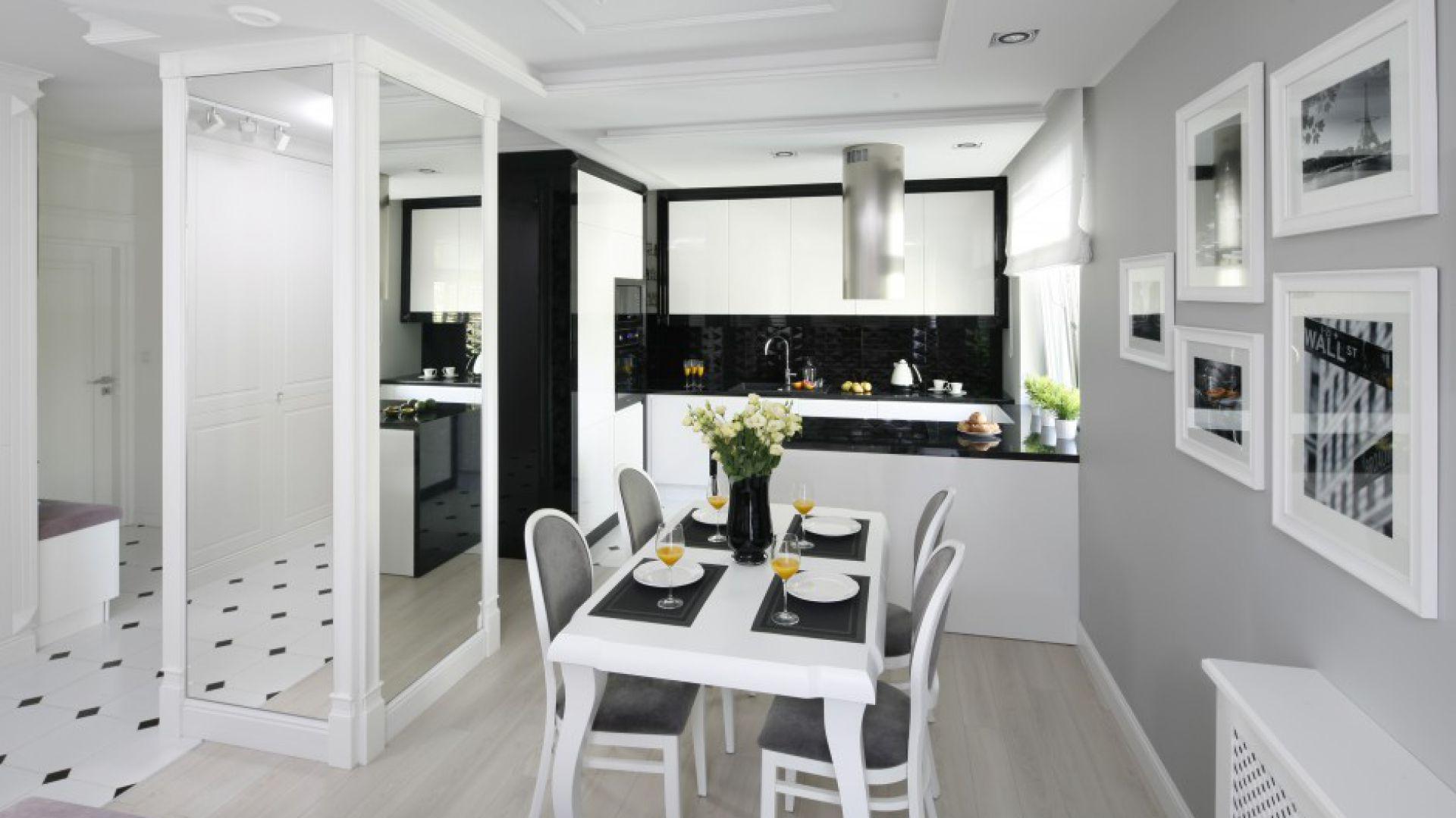 Kuchnia w stylu glamour. Projekt: Katarzyna Mikulska-Sękalska. Fot. Bartosz Jarosz