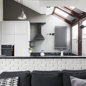 Salon połączony z kuchnią i jadalnią. Projekt: Maf Group. Fot. Emi Karpowicz