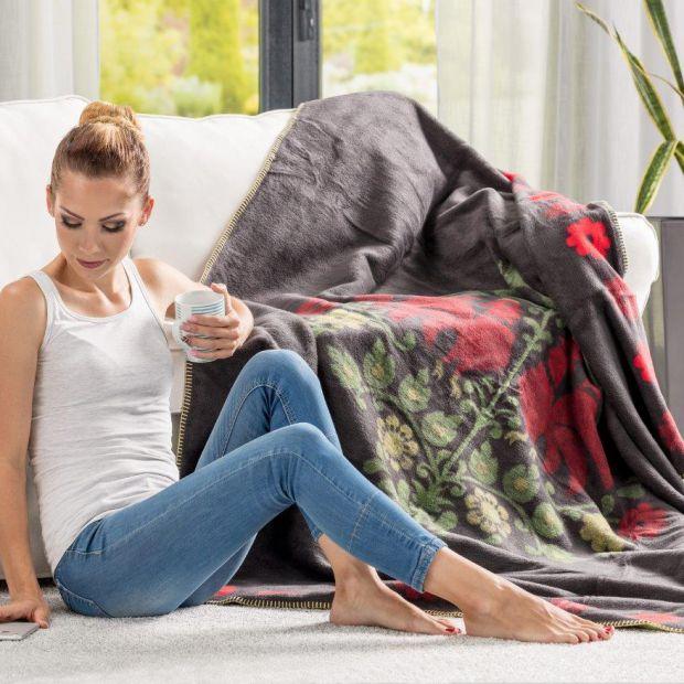 Przytulny salon - tkaniny idealne na jesień