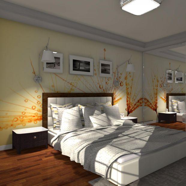 Projekt sypialni: ciekawy pomysł na ścianę za łóżkiem