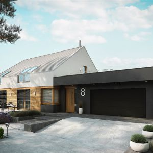 Dom zachwyca przestrzenią pełną elegancji i naturalnego światła. Dom EX 18 G2 Energo Plus. Projekt: arch. Artur Wójciak. Fot. Pracownia Projektowa Archipelag