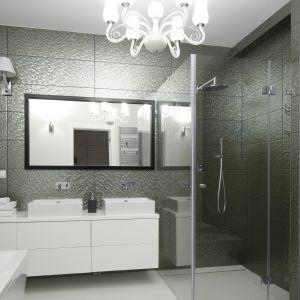 Prysznic w  łazience. Projekt: Maria Biegańska, Ewelina Pik. Fot. Bartosz Jarosz