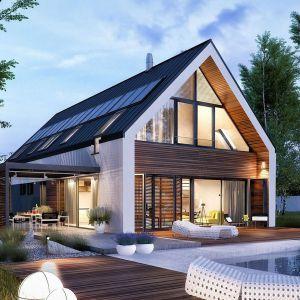 Dom ocieplony styropianem. Projekt domu EX 19 Energo Plus. Fot. Pracownia Projektowa Archipelag