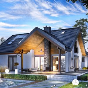 Dom ocieplony styropianem. Projekt domu Simon II G2. Fot. Pracownia Projektowa Archipelag