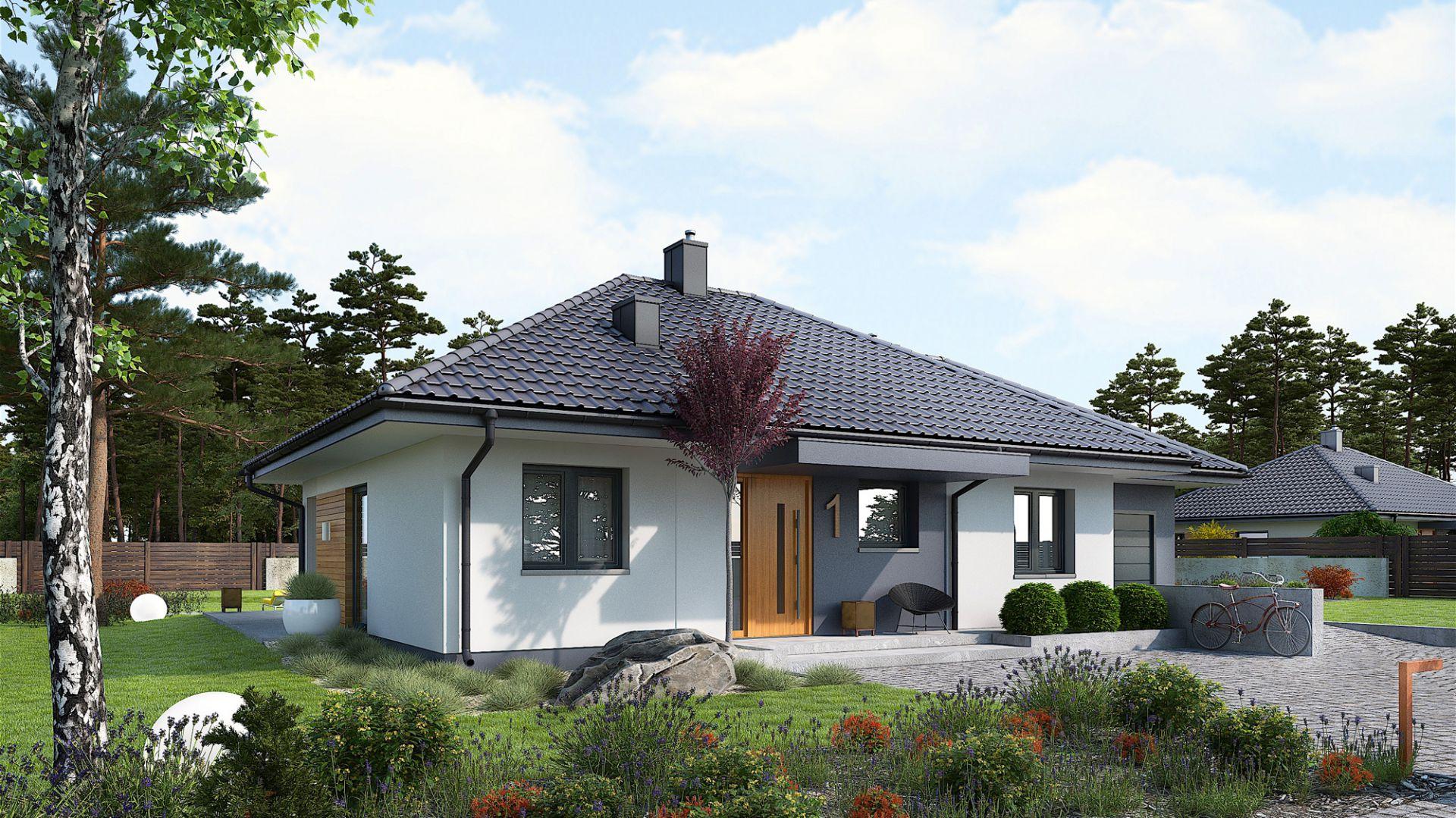 Dom Mini 1 G1 to idealna propozycja dla wszystkich którzy szukają małego domu w nowoczesnym klimacie. Dom Mini 1 G1. Projekt: arch. Artur Wójciak. Fot. Pracownia Projektowa Archipelag